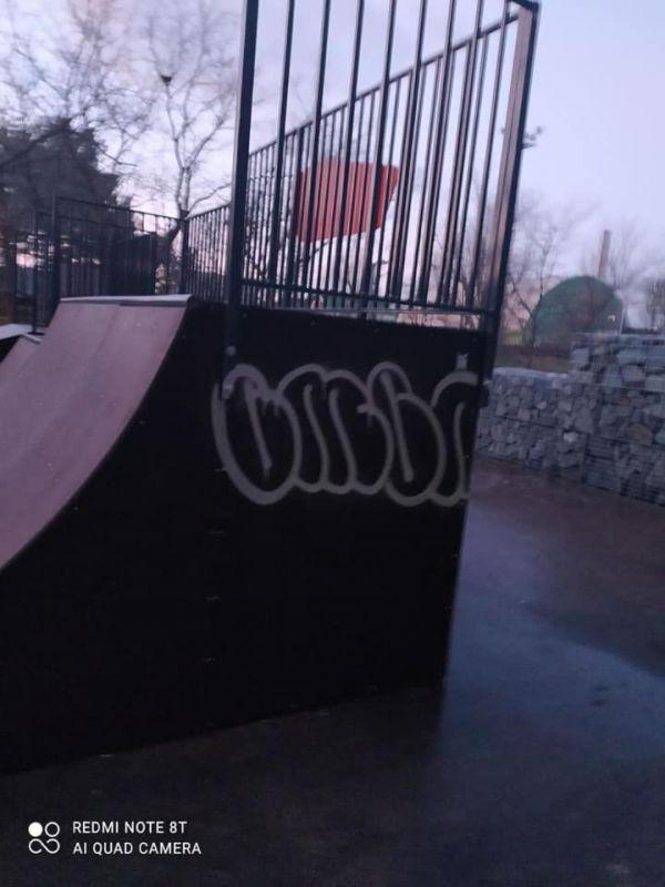 В Евпатории неизвестные изрисовали новый скейт-парк