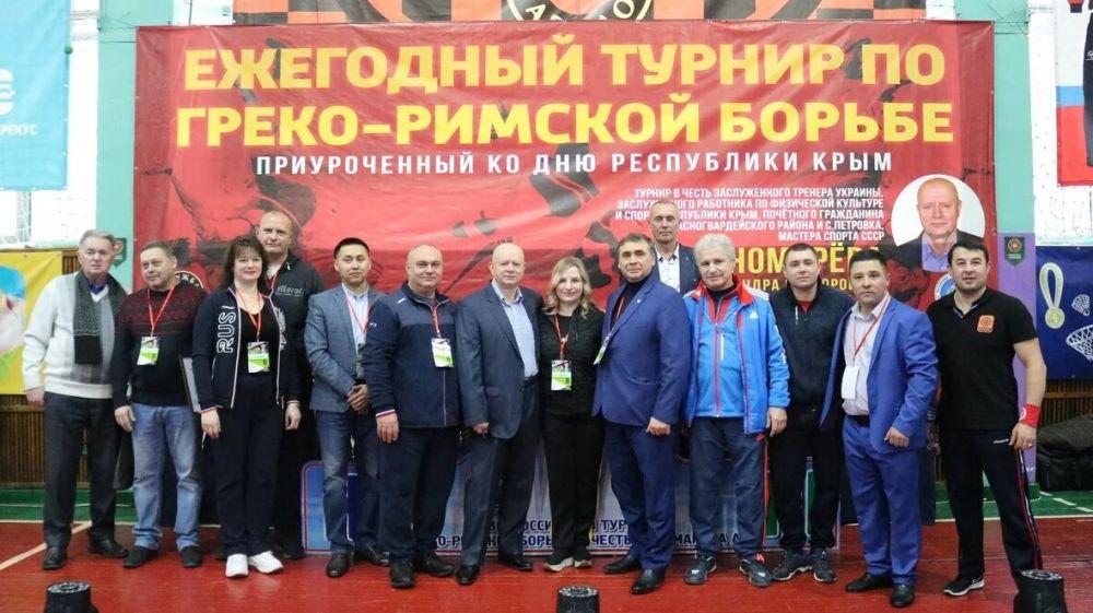 В Красногвардейском районе прошел Республиканский турнир по греко-римской борьбе в честь Александра Пономарёва