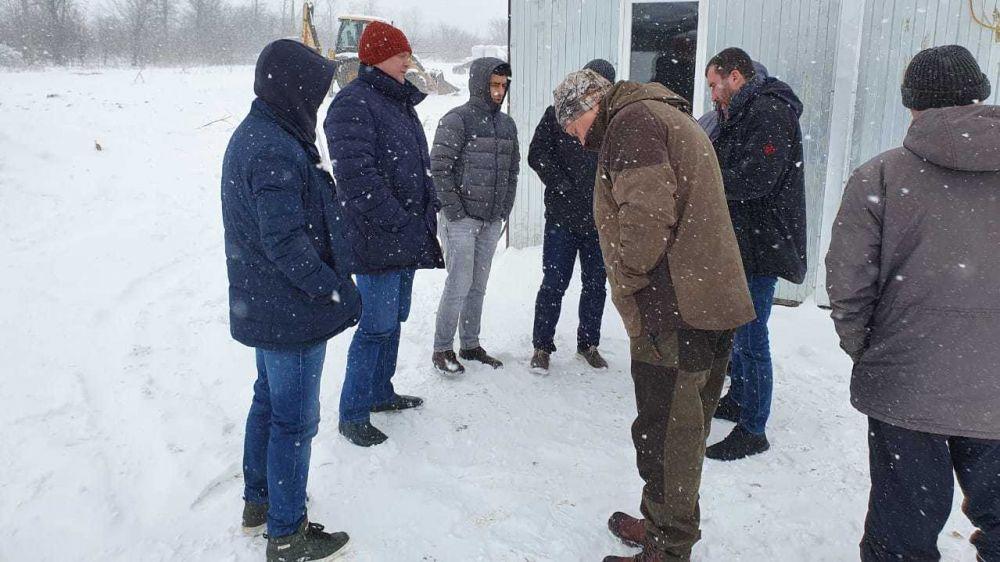 Из-за снегопада возникли сложности с доступом на объект строительства Бештерек-Зуйского водовода и водозабора