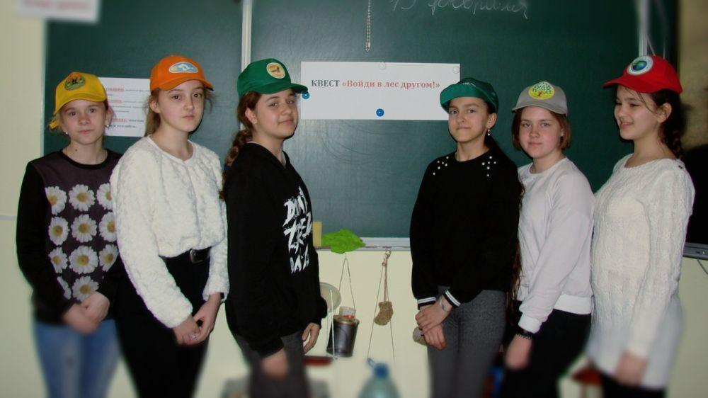Квест «Войди в лес другом» состоялся в школьном лесничестве «Крокус»