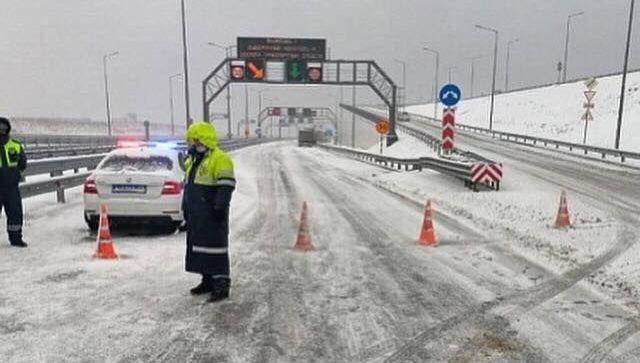 В районе Крымского моста образовался километровый затор – МЧС