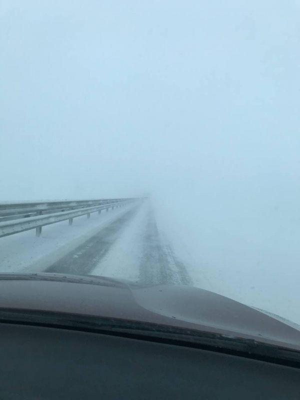 """Трасса """"Таврида"""" 19 февраля 2021: какая сейчас ситуация на дороге? Фото, видео"""