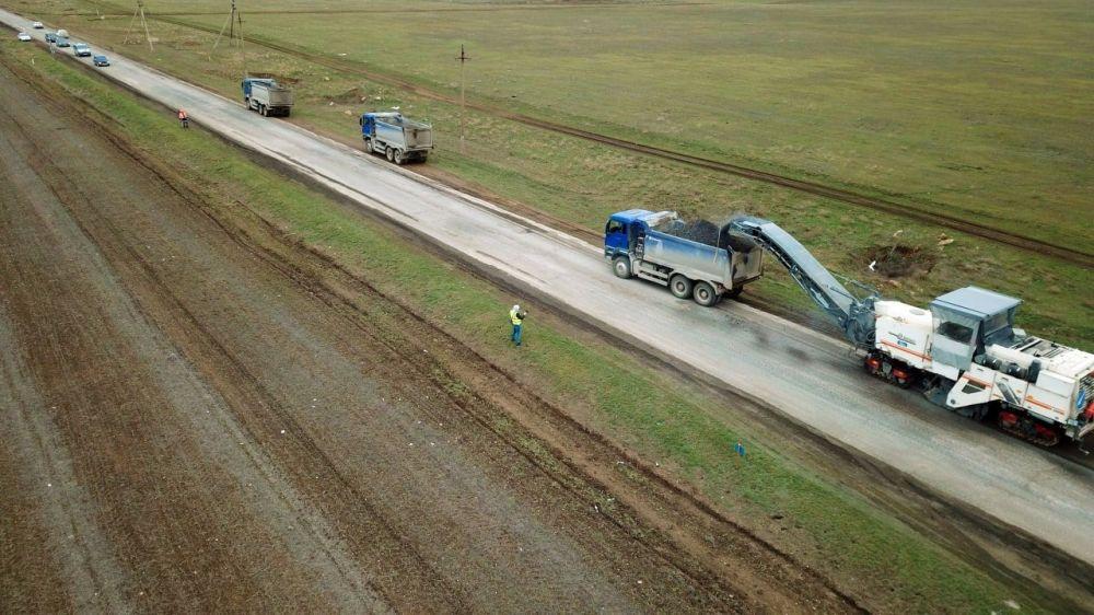 В Крыму начался ремонт автодороги Евпатория – Черноморское