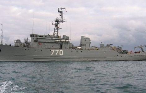Тральщик ЧФ возвращается в Чёрное море из Средиземного