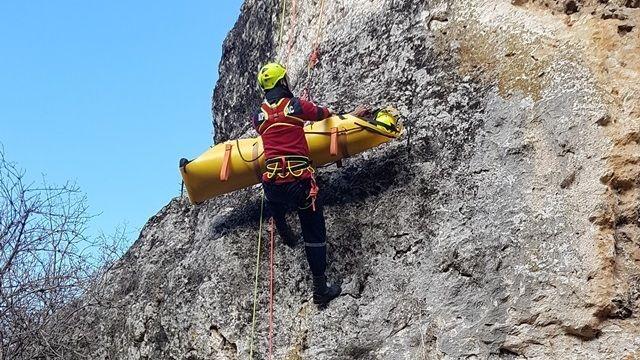 Специалисты ГКУ РК «КРЫМ-СПАС» провели тренировочное занятие по альпинистской подготовке