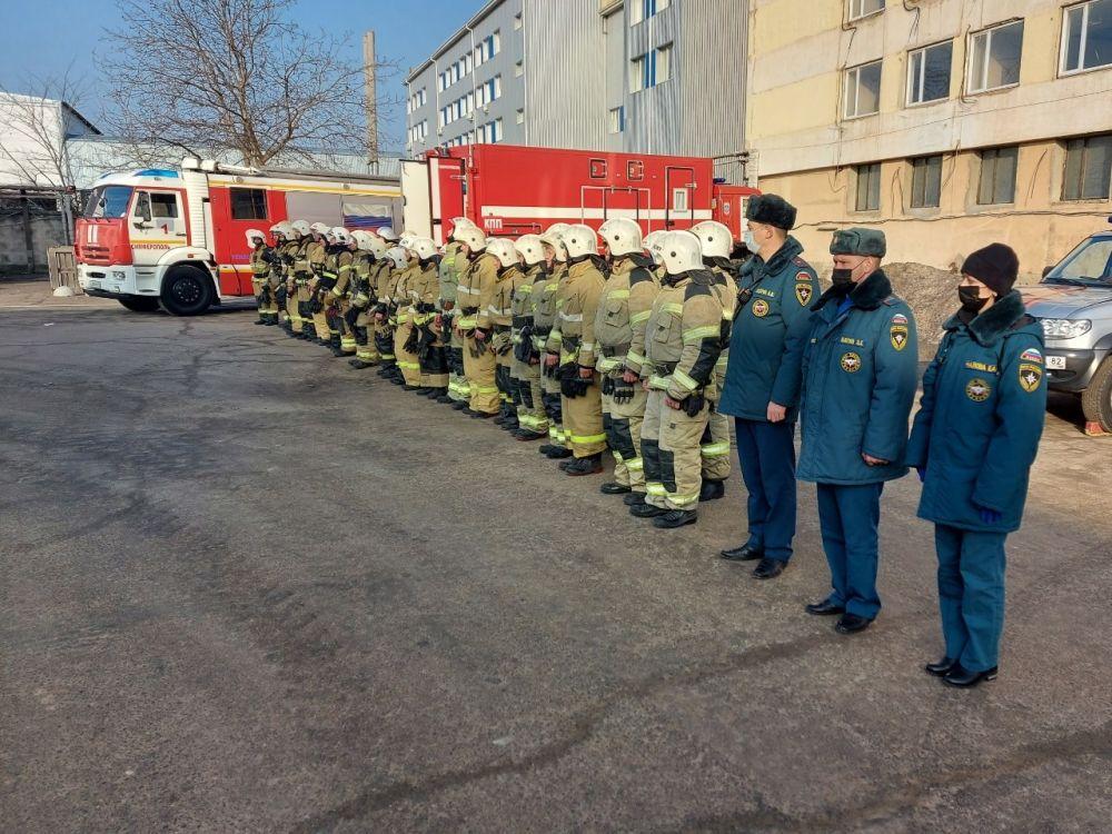 Пожарно-тактические учения в Симферополе