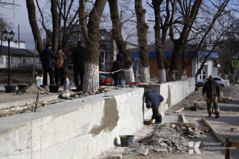 Благоустройство городского парка в Старом Крыму завершится к августу текущего года