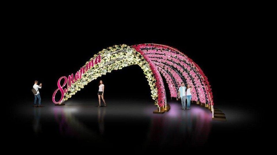 В Симферополе к 8 марта установят праздничную инсталляцию с подсветкой