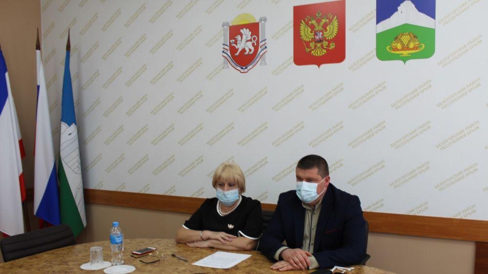 Руководители Белогорского района приняли участие в дистанционном приёме граждан по вопросам жилищно-коммунального хозяйства Республики Крым