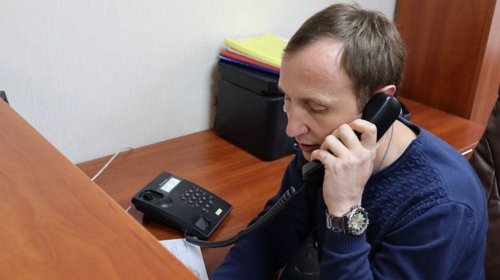 Зам.главы администрации Сакского района Евгений Радионов провел прием граждан в режиме «телефонной линии»