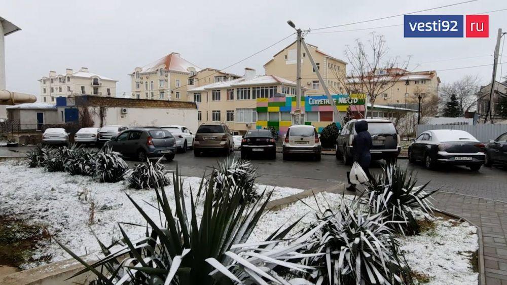 Ливни придут на смену снегу в Севастополе