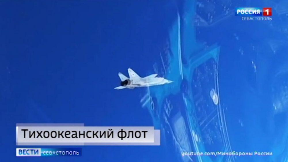 Истребители МиГ-31 в Арктике перехватили самолёт-«нарушитель»