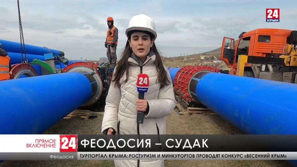 На Востоке Крыма завершают строительство тракта водоподачи