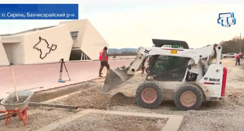 На 80% готов мемориальный комплекс в посёлке Сирень