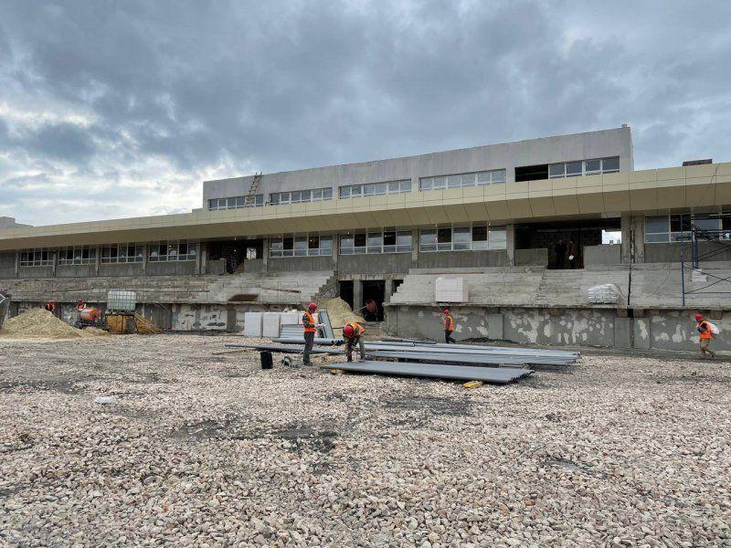 Строительство стадиона «Горняк» выполнено на 45%