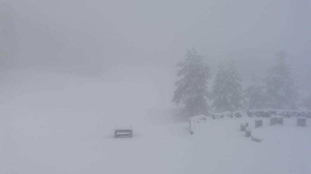 Зима не отступает: Плато Ай-Петри замело снегом