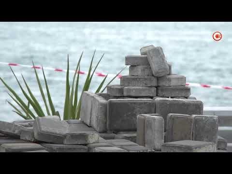 Контроль восстановления плиточного покрытия на набережной после шторма (СЮЖЕТ)