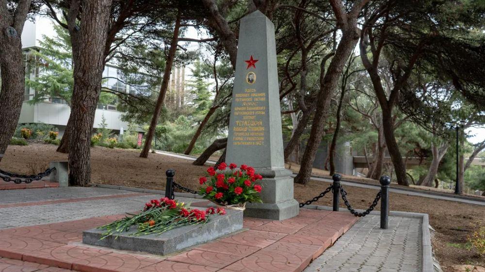 В Форосе почтили память Героя обороны Севастополя Александра Терлецкого