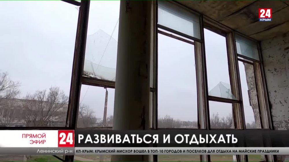 В селе Семисотка Ленинского района строят развлекательный центр на месте заброшенного магазина
