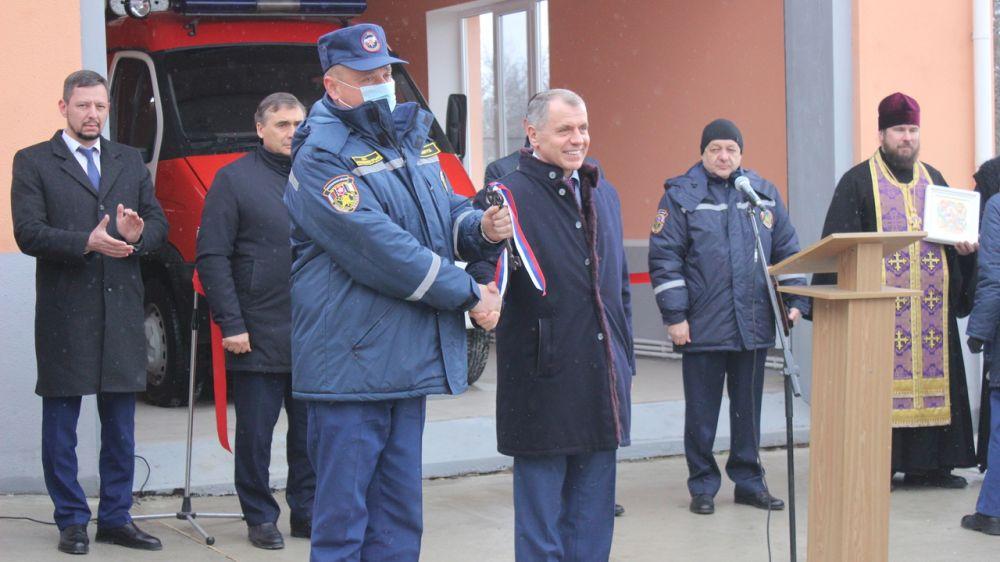 В пгт. Научный (Бахчисарайский район) открыта новая пожарная часть ГКУ РК «Пожарная охрана Республики Крым»
