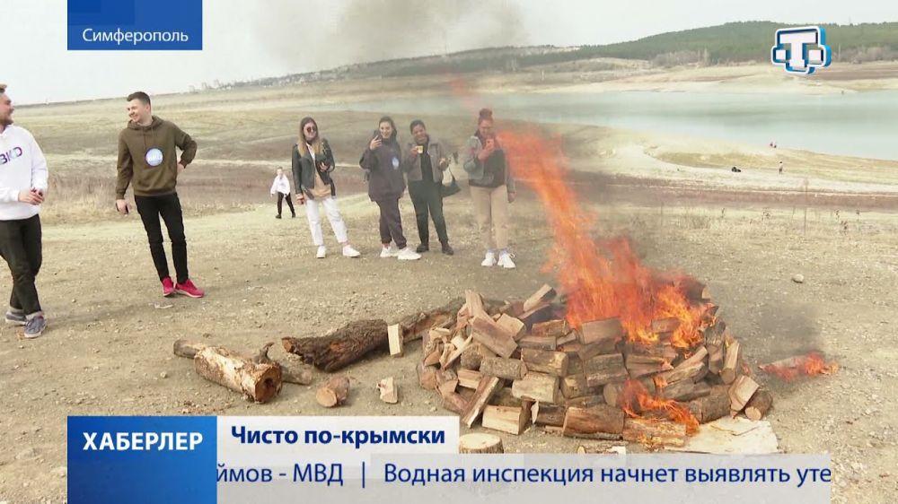 Крымчане вышли на уборку территории столичного водохранилища