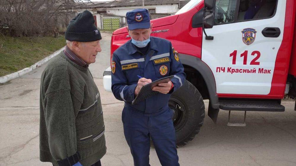 Особое внимание огнеборцев ГКУ РК «Пожарная охрана Республики Крым» уделяется профилактической работе с населением в сельской местности