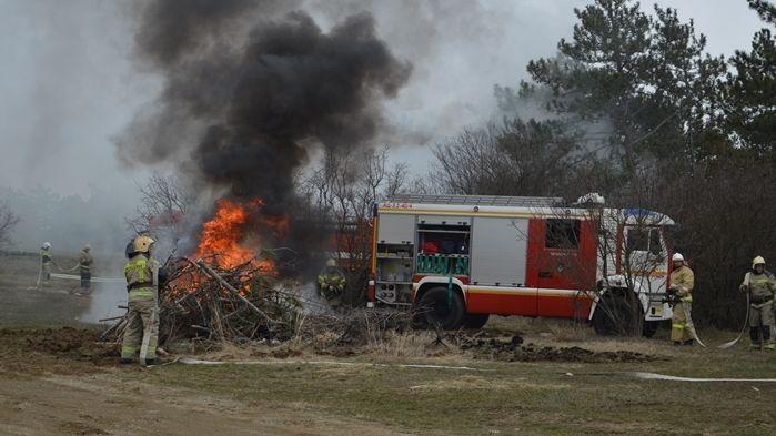 Силы и средства РСЧС совместно с ФПС отработали действия по ликвидации чрезвычайной ситуации, связанной с крупным лесным пожаром лесных пожаров