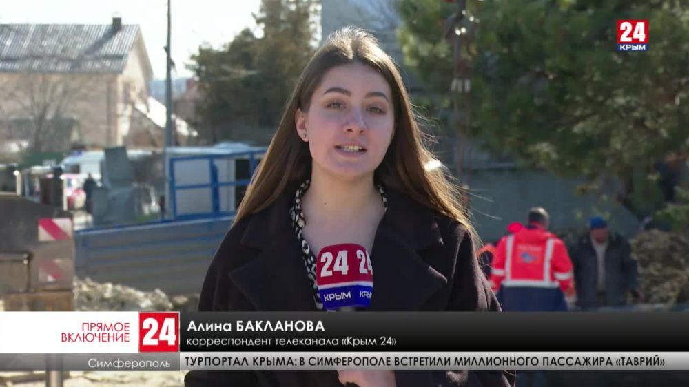 Специалисты «Воды Крыма» меняют трубопровод на улице «Крымской Правды» в Симферополе