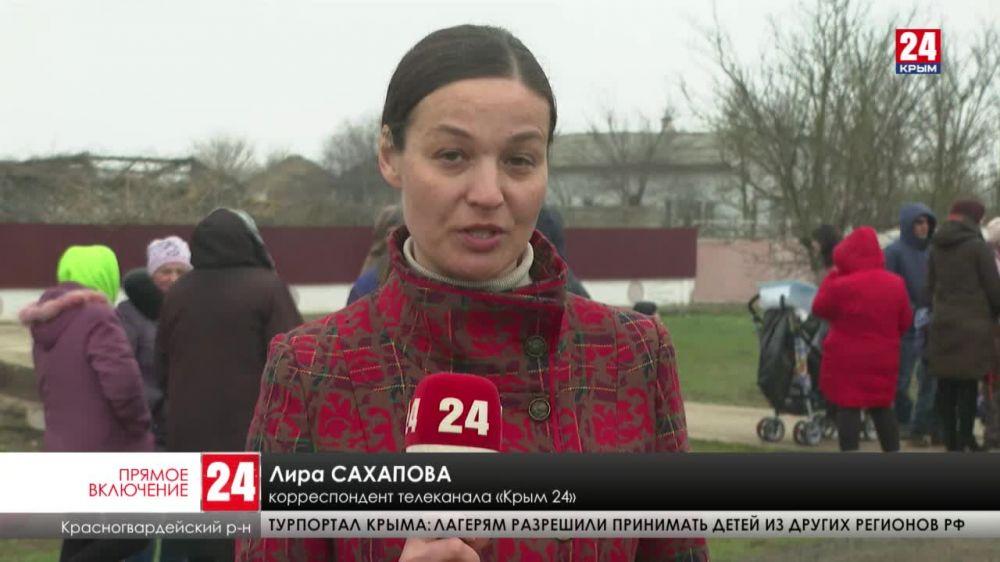 В селе Нахимово Красногвардейского района запустили водовод