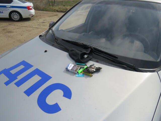 В Ленинском районе остановили автомобиль с наркотиками