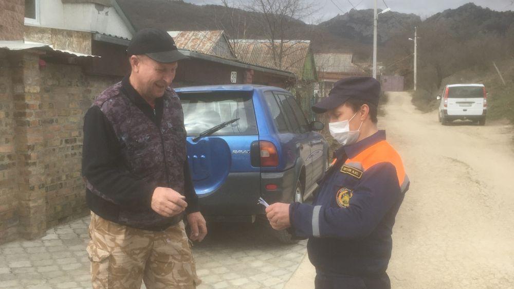 МЧС: В Крыму продолжается адресная работа по профилактике пожаров