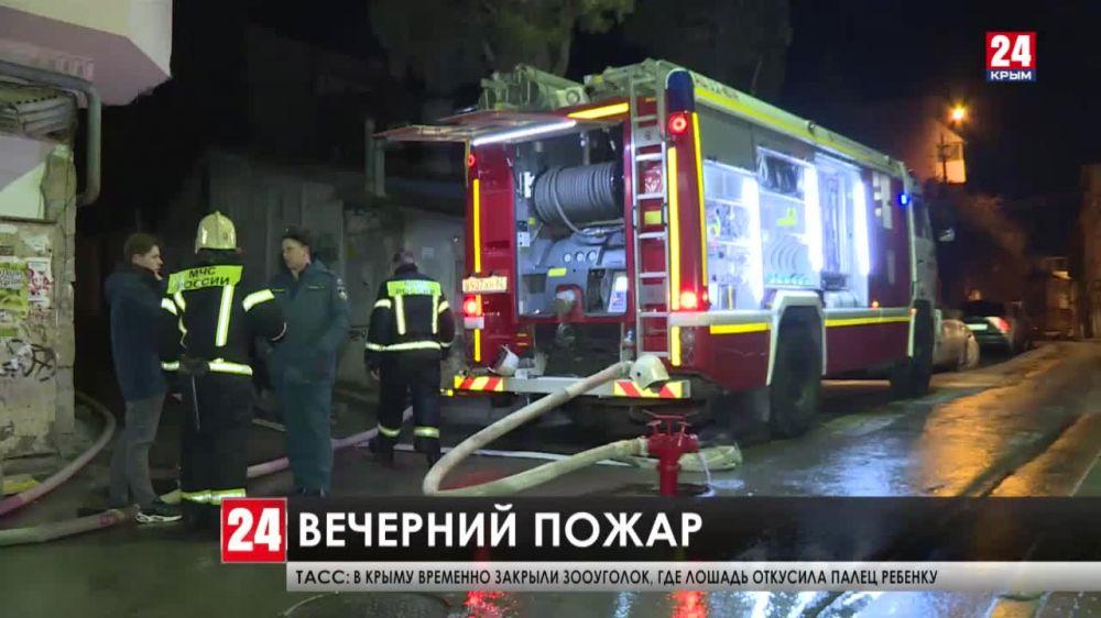 Последствия пожара жилого дома в Ялте