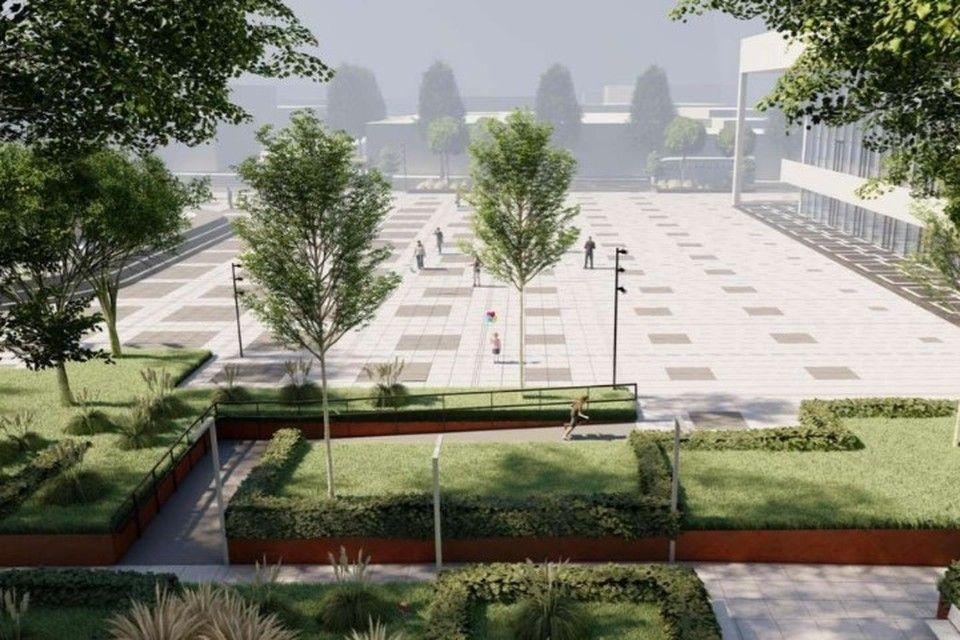 Без фонтанов, зон отдыха и навесов: Какой станет площадь им. Ленина в Симферополе после ремонта