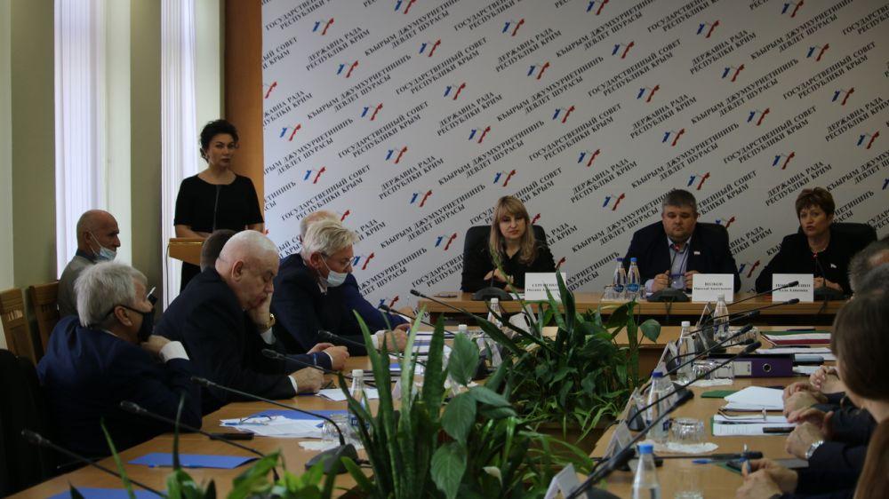 Арина Новосельская на заседании профильного парламентского комитета представила годовой отчет о деятельности и перспективах развития сферы культуры в Республике Крым