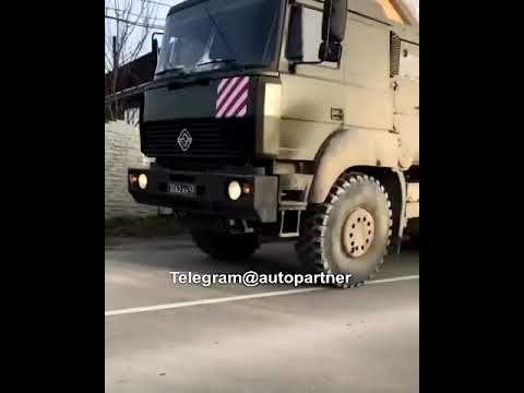 В Симферопольском районе водитель «УРАЛа», перевозивший бронетехнику, не поделил дорогу с «КамАЗом»
