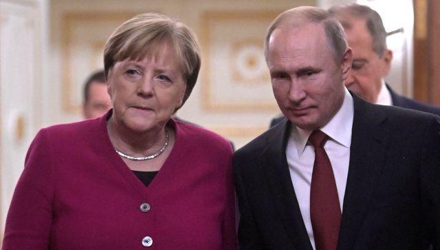 Путин и Меркель обсудили эскалацию конфликта в Донбассе