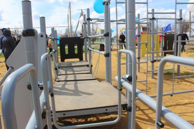Спортивную площадку торжественно открыли в селе Красногвардейского района
