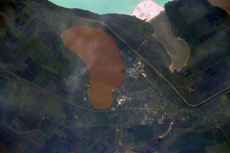 Крымский город Красноперекопск сняли из космоса