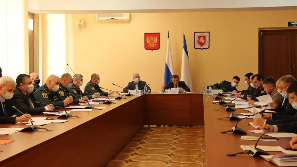 Состоялось заседание Комиссии по предупреждению и ликвидации чрезвычайных ситуаций и обеспечению пожарной безопасности Республики Крым
