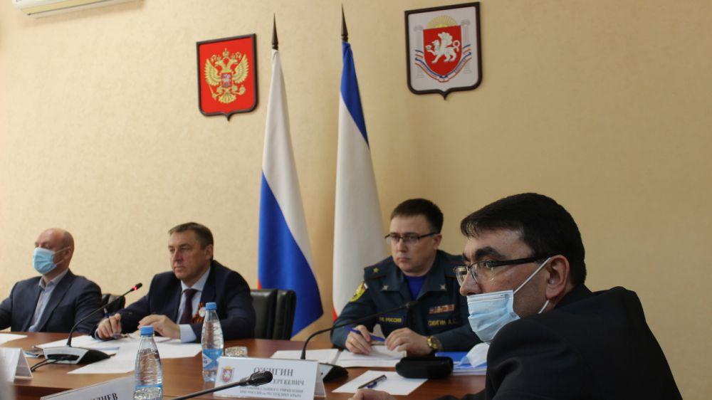 В рамках проведения командно – штабного учения состоялось заседание Комиссии по предупреждению и ликвидации чрезвычайных ситуаций и обеспечению пожарной безопасности Республики Крым