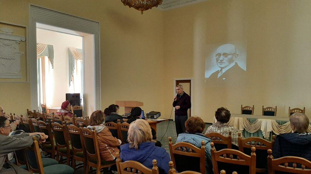 Сотрудники Судакской крепости прочли лекцию об известном художнике, реставраторе и просветителе Игоре Грабаре
