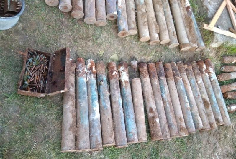 На Северной стороне при земляных работах найдено крупное скопление взрывоопасных предметов