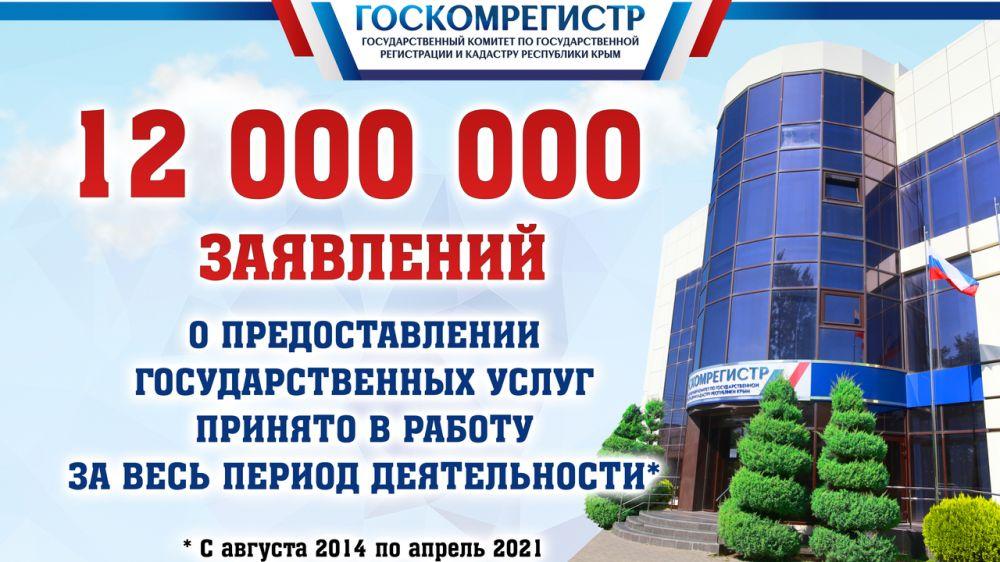 За весь период деятельности специалистами Госкомрегистра принято более 12 000 000 заявлений на предоставление государственных услуг — Инна Смаль