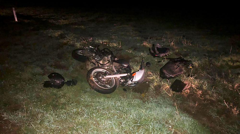 В Черноморском районе произошло ДТП с мотоциклистом