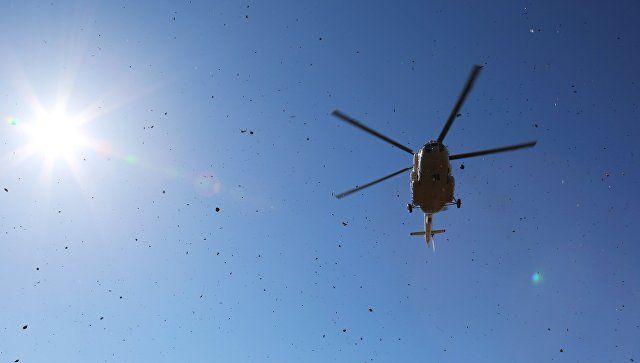 На Кубани упал вертолет: пилот погиб