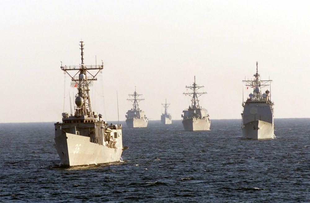 Корабли Каспийской флотилии зашли в Чёрное море