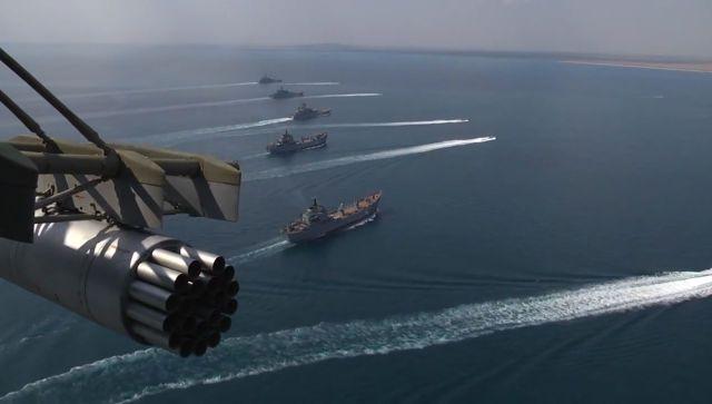 Корабли Каспийской флотилии зашли в Черное море для учений