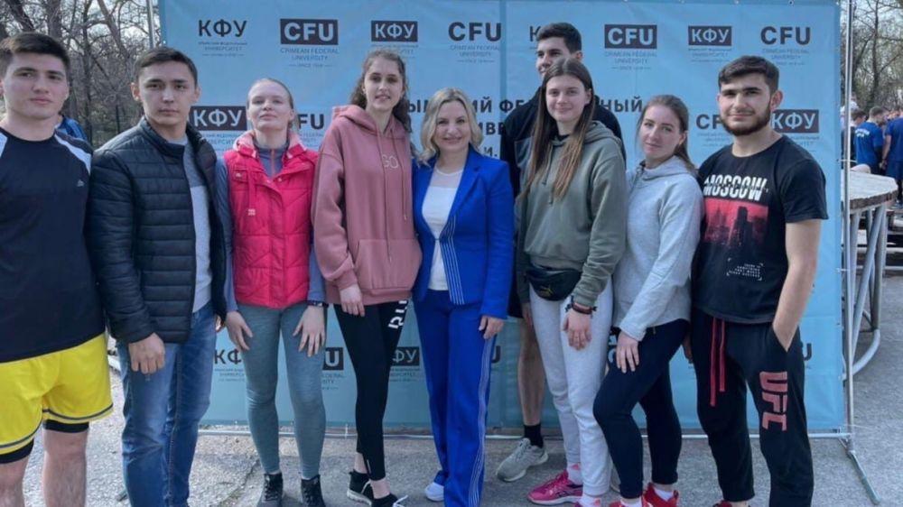 Ольга Торубарова приняла участие в открытии чемпионата КФУ по спортивному многоборью