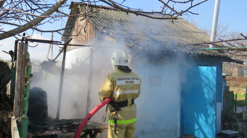 Пожар в Кировском районе был ликвидирован силами огнеборцев ГКУ РК «Пожарная охрана Республики Крым»