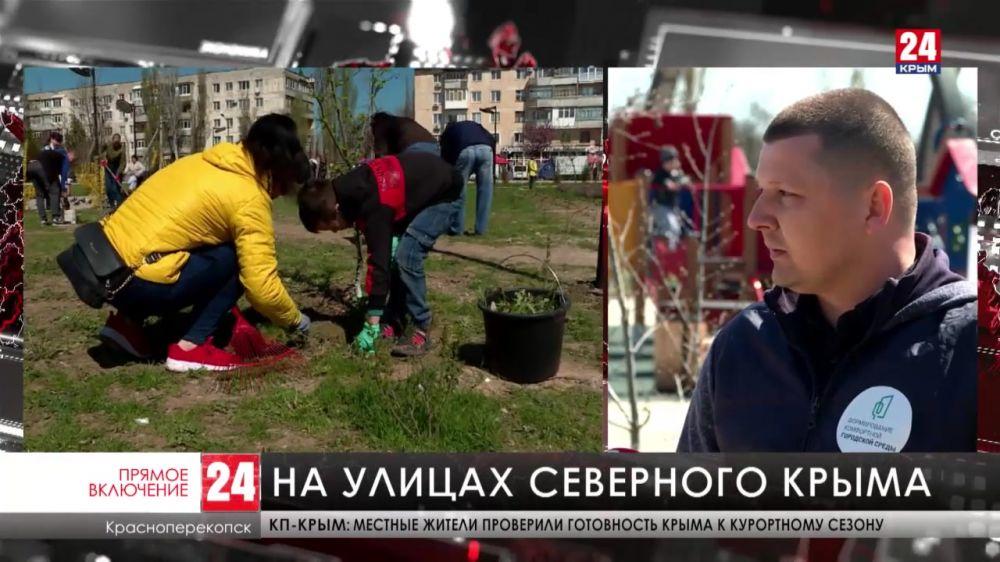 В Красноперекопске обустраивают сквер Химиков